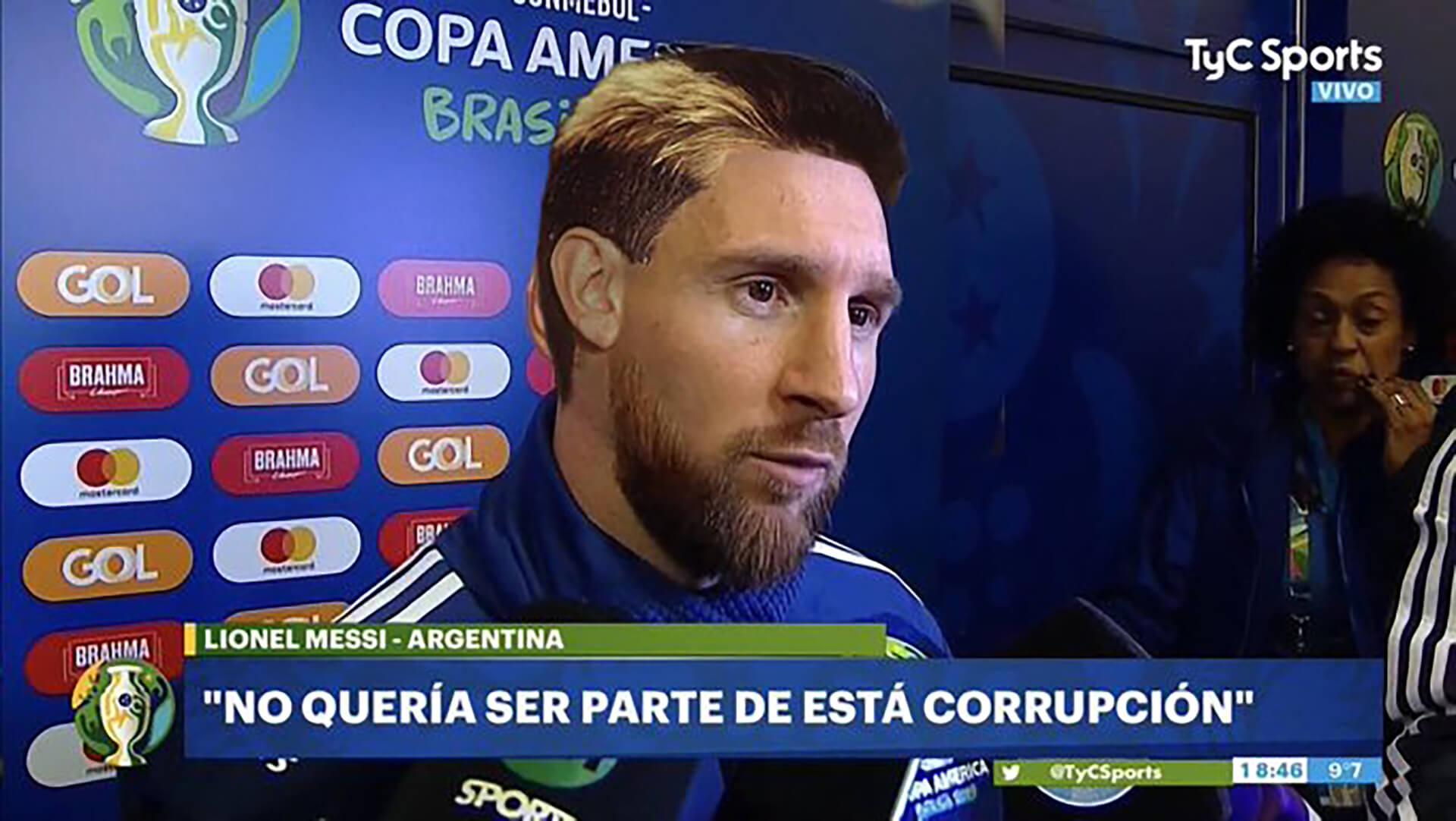 La transformación está completa: Messi acusó a la Conmebol y se convirtió en Maradona.