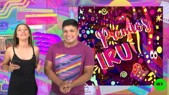 hombre con remera arcoiris y mujer con musculosa negra premios irutv 2019