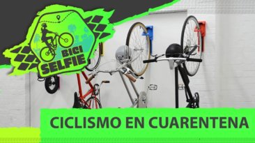 bicicletas de carrera y de dama colgadas