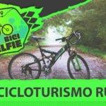 bicileta negra y verde en meido del sendero rural